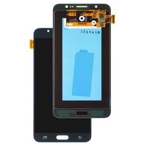 LCD compatible with Samsung J710 Galaxy J7 (2016), (black, with touchscreen, original (change glass) )