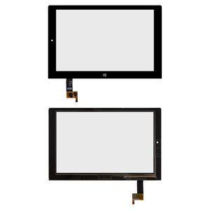 Touchscreen compatible with Lenovo Yoga Tablet 2-1051 LTE, (black)