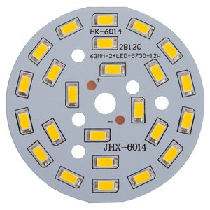 PCB with LEDs 12 W (cold white, 1440 lm, 63 mm)