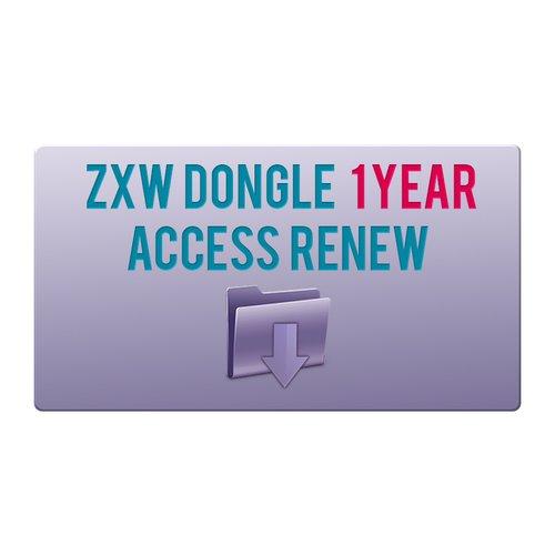Renovación de acceso por 1 año para ZXW Dongle