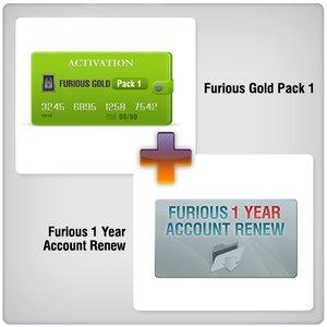 Продление доступа в зону поддержки Furious на 1 год + Furious Gold Pack 1