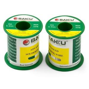 Припой BAKU BK-10004, Sn 97%, Ag 0.3%, Cu 0.7%, flux 2%, 0,4 мм, 100 г