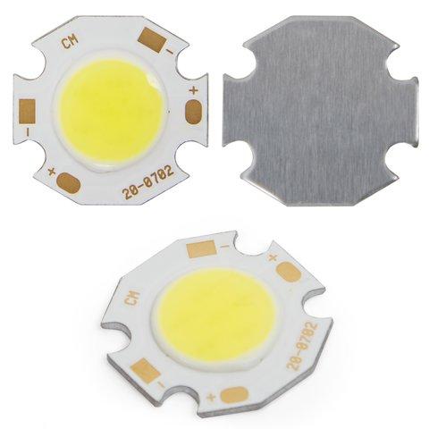 COB LED модуль 7 Вт холодний білий, 650 лм, 20 мм, 300 мА, 21 23 В