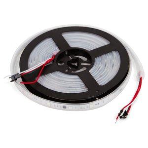 Світлодіодна стрічка RGB SMD5050, WS2811 (біла, з управлінням, IP67, 12 В, 30 діодів/м, 1 м)