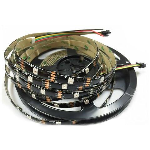 Світлодіодна стрічка RGB SMD5050, WS2813 чорна, з управлінням, IP65, 5 В, 30 діодів м, 1 м