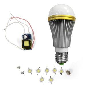 Комплект для збирання світлодіодної лампи SQ-Q52 7 Вт (теплий білий, E27)