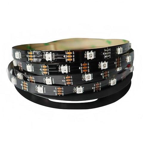 Tira de luces LED RGB SMD5050, WS2812B (con controles, IP20, 5 V, 30 diodos LED/m, 5 m)